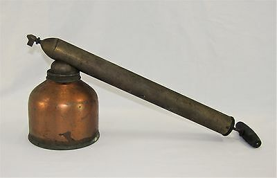 Vintage Antique BLIZZARD Copper Brass Wooden Garden Sprayer By D B Smith - USA