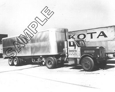 DAKOTA TRANSFER 1945 STERLING w/TRAILMOBILE Trailer, Minneapolis 8x10 Photo #2