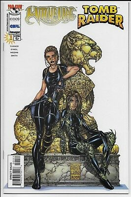 Image Top Cow WITCHBLADE TOMB RAIDER SPECIAL #1 Lara Croft 1st Pr 1998 NM Turner
