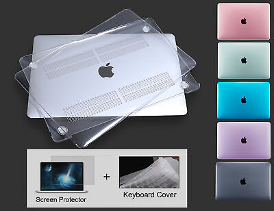 Crystal Clear Laptop Cover Hard Shell Case for Macbook 12 Air11 Pro Retina 13 15