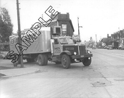 1940s STERLING & Tandem REEFER, DAKOTA TRANSFER, St Paul, Wabasha St. 8x10 Photo