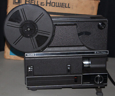 Bell and Howell 1620 Duel 8 MM Super 8MM Auotload Movie Projector Original Box