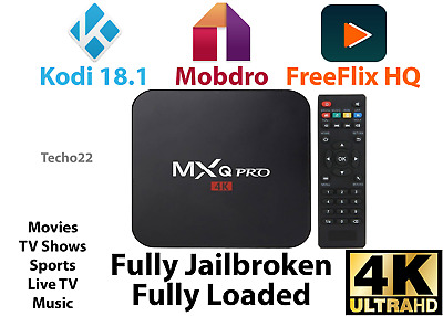 MXQ Pro 4K Ultra HD 3D 64Bit Wifi Android 7.1 Quad Core Smart TV Box + KODI 17.6