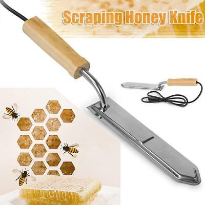 Stainless Steel Electric Scraping Honey Cut Beekeeping Wax Uncapping Tool US