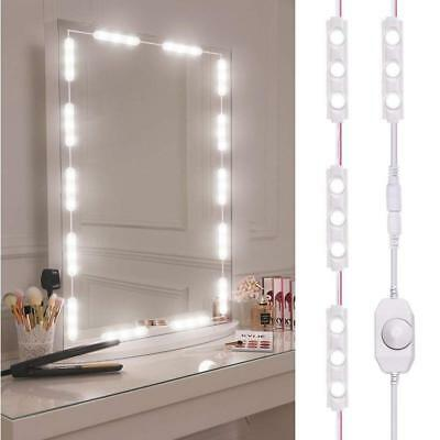 10FT 60Leds Dimmable LED Vanity Light Kits Cosmetic Makeup Mirror Lights String