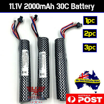 11.1v 2000mAH UPGRADE 30C Li-ion Battery GEL BALL BLASTER SCAR J8/9 J10 ACR M4A1