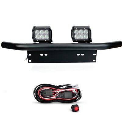 License Plate Mounting Bracket Front Bull Bar Bumper Off Road LED Work Light Bar