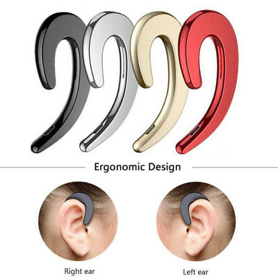 US Ear Hook Headphone Wireless Hands Free Single Button Earbuds Sports Headset