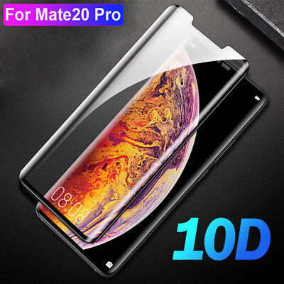 For Huawei Mate 20 Pro 10D Full Coverage Curved Tempered Glass Screen Protector