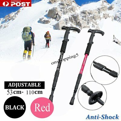 Retractable Anti Shock Walking Sticks Telescopic Trekking Hiking Poles Canes CH