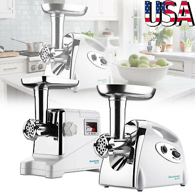 800/1400 W Commercial Grade Electric Meat Grinder Stainless Steel Heavy Duty US