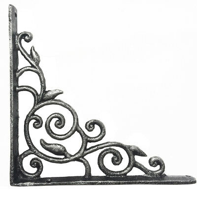 Old Vintage Antique Wrought Iron Book Shelf Bracket Support Wall Mounted 8.4inch