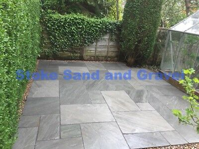 Kandla Grey Paving 19m2 Patio Pack 22mm Calibrated Indian SandStone Mixed Silver