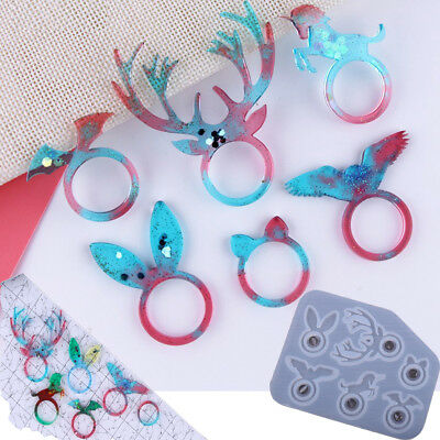 Unicorn Silicone Pendant Mold Jewelry Resin Necklace Ring Mould Casting Craft