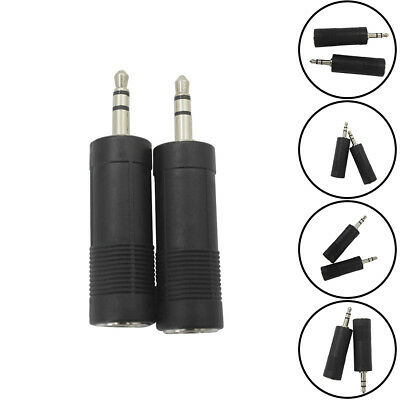 KD_ Stereo 3.5mm Male to 6.5mm Female AUX Jack Audio Coupler Connector Plug Ex