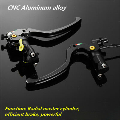"7/8"" CNC Motorcycle 19RCS Brake Clutch Levers Master Cylinder Hydraulic Pump"
