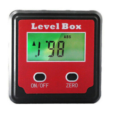 Portable Digital LCD Inclinometer Level Box Protractor Angle Finder Gauge Meter