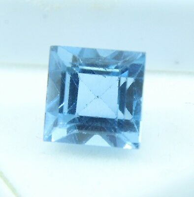 8.10 Ct Natural Emerald Cut Transparent Ocean Blue Aquamarine Gem GGL certified