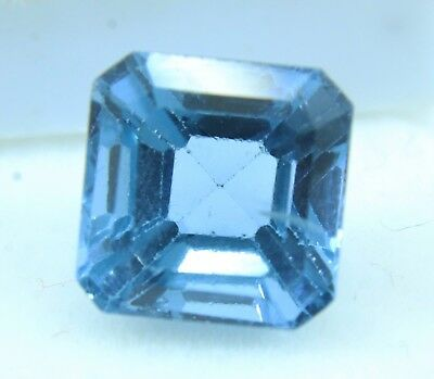 8.40 Ct Natural Emerald Cut Transparent Ocean Blue Aquamarine Gem GGL certified