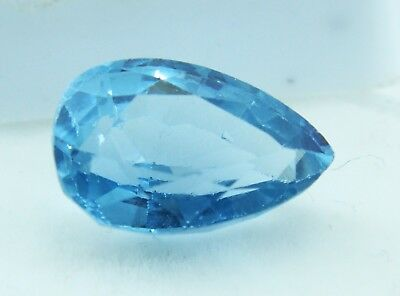 7.85 Ct Natural Pear Cut Transparent Ocean Blue Aquamarine Gem GGL certified
