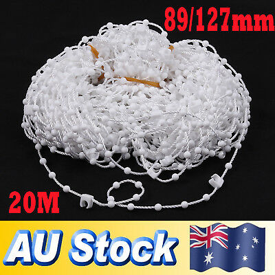 89mm/127mm VERTICAL BLIND BOTTOM SLAT LINK CHAIN CORD PARTS WHITE 20 Metres AU