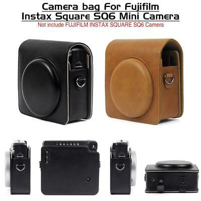 For Fujifilm Instax SQUARE SQ6 Instant Camera Cover Case Bag PU Leather Shell AU