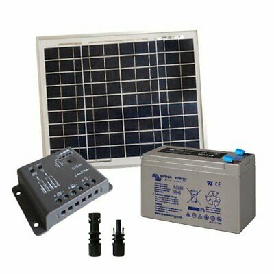 Solar Kit Pro 10W 12V SR Solar Panel Charge Controller 5A PWM Battery 8Ah AGM