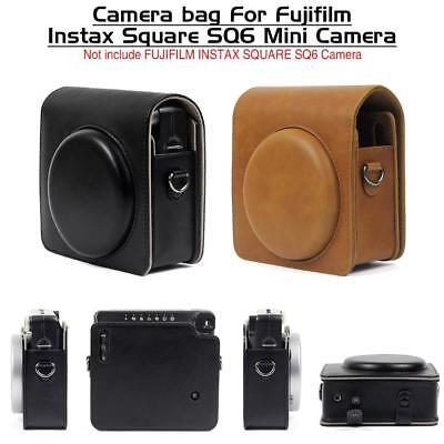 For Fujifilm Instax SQUARE SQ6 Instant Camera Cover Case Bag PU Leather Shell DE