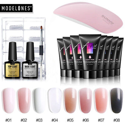 Modelones UV LED Nail Dryer Lamp 30ML Quick Poly Extension Builder Gel Nail Tip