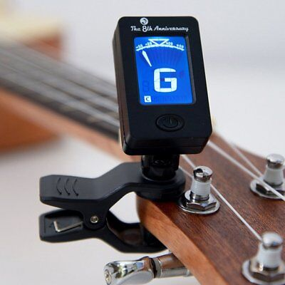JT-01 LCD Display Chromatic Clip-On Tuner for Acoustic Guitar Bass Violin CH