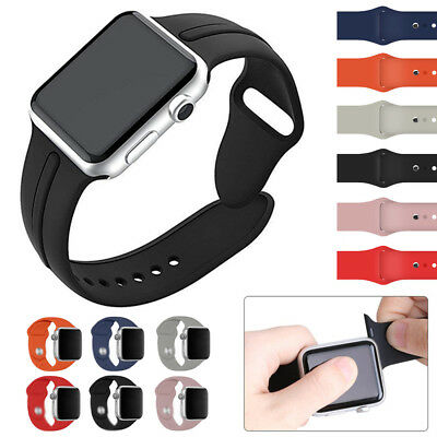 38/42mm Silicone Bracelet Band Straps For Apple Watch iWatch Sports Series 1234