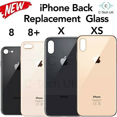 Back Rear Glass Replacement Battery Cover For iPhone 8, 8 +, X, XS, All Colours