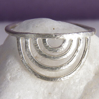 SILVER RAINBOW WISH Size US 8 3/4 SILVERSARI Ring Solid 925 Sterling Silver