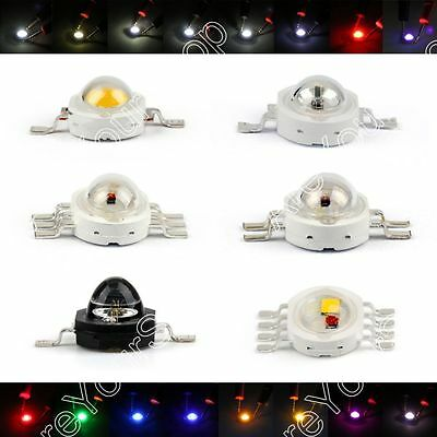 3W LED Lámpara Emitting Diodes Beads Alto Voltaje Chip Light RGB Infra
