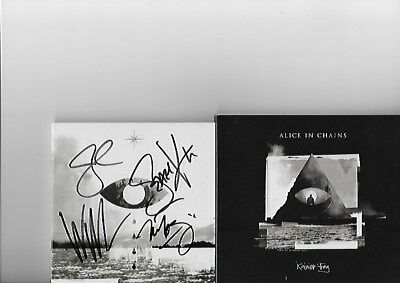 AUTOGRAPHED Alice In Chains Signed CD Booklet Jerry Cantrell CD Rainier Fog