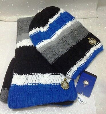 Fc Inter Sciarpa + Cappello Taglia Junior Castellano Official Product 12 16  Anni 5c54b4a8e6bb