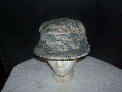 US Military Issue Army Combat Uniform ACU Camouflage Patrol Cap Hat Size 7-1/4