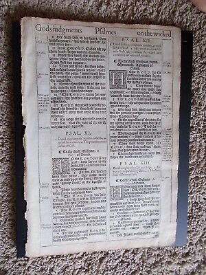 1st Edition-2nd Pr-1611 King James Bible Leaf-Folio-Random Offering-50 Available