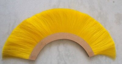 Collectibles Yellow Plume Brush Natural Horse Hair For Roman Helmet Replica Gift
