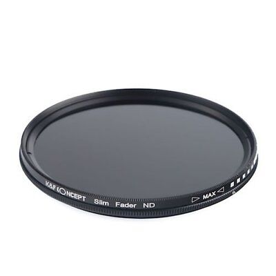 K F Concept variable ND filter KF-NDX46 46mm NDX dimming range ND2 ND40... JAPAN