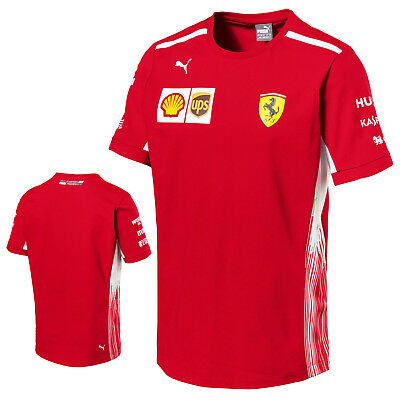 2018 Official Scuderia Ferrari F1 Formula One Mens Team T-Shirt Tee Genuine Puma