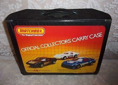 1983 MATCHBOX Official Collector's Carry Case with 49 1960s-80's Cars and Trays