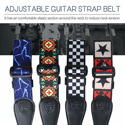 Adjustable Guitar Strap Comfortable 50mm Wide for Bass Electric Acoustic CH
