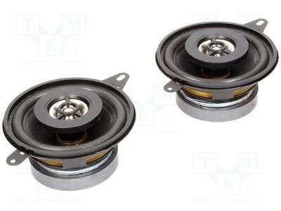 Car loudspeakers; two-way; 87mm; 80W; 100÷20000Hz; 2 loudspeakers [1 set]