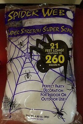 New 6× Super Stretch Spider Web Stretches to 260 Square Feet