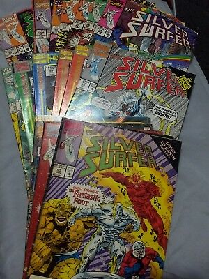 Silver Surfer vol3 (1989-, Marvel) (19) book collection/lot. #35 and up. Mixed g
