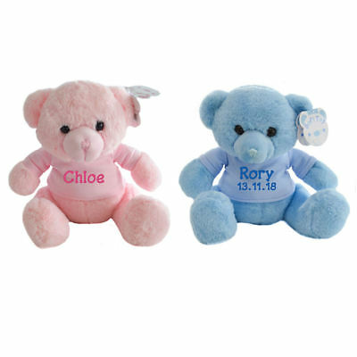 Personalised Teddy Bear, Embroidered teddies, Birthday/Christening/New baby Gift