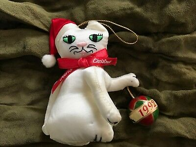 Russ Berrie Cat Collectible 1992 Christmas Tree Ornament