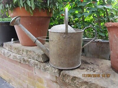 Good Vintage Galvanised 1 12 Gallon Metal Watering Can with Original Rose