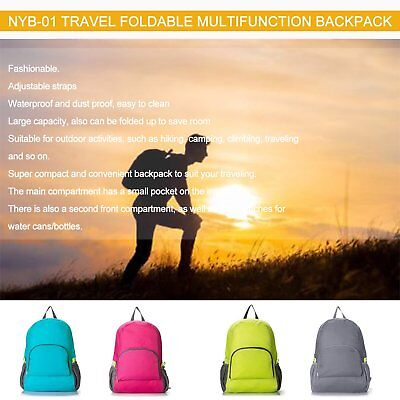 Lightweight Foldable Waterproof Pack Backpack Travel Outdoor Bag CH